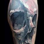 Robert Zyla scary skull tattoo design