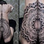 Chaim Machlev symmetrical tattoo