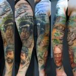 Csaba Kolozsvari unbelievable full sleeve tattoo