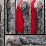 Chaim Machlev unique full sleeve tattoo design