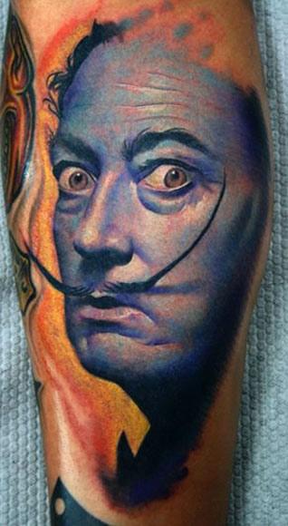 Darwin Enriquez Dali portrait tattoo design