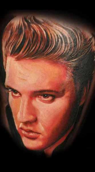 Mario Hartmann tattoo design by Elvis Presley