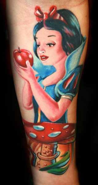 Janos Kovarik Snow White tattoo