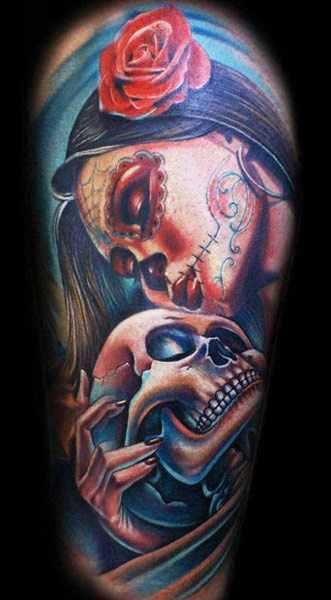 Mario Hartmann adorable portrait tattoo