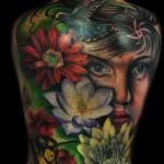 Max Pniewski amazing full back tattoo