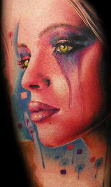 Mario Hartmann amazing portrait tattoo