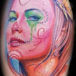 Mario Hartmann artistic woman portrait tattoo