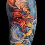 Max Pniewski colorful tattoo design