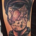 creative map tattoo