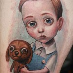 Darwin Enriquez cute portrait tattoo