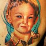 Janos Kovarik cute realistic portrait tattoo