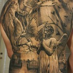 Sergio Sanchez full back tattoo