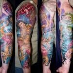 James Tex full sleeve tattoo in progress