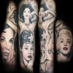 Mario Hartmann full sleeve portrait tattoo design