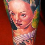 Janos Kovarik geisha tattoo