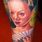 Janos Kovarik geisha tattoo
