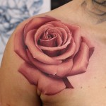 John Anderton huge rose tattoo