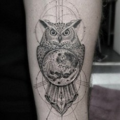 Dr Woo owl tattoo design