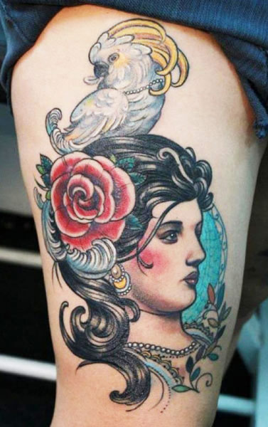 Darwin Enriquez portrait tattoo design