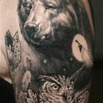 Sergio Sanchez realistic animal tattoo