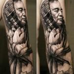 Sergio Sanchez realistic portrait tattoo