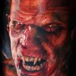 Mario Hartmann scary portrait tattoo
