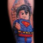 Max Pniewski Superman tattoo design