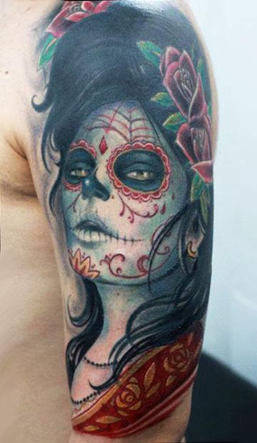 Darwin Enriquez detailed portrait tattoo