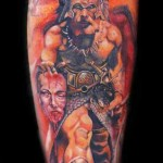 Mario Hartmann warrior portrait tattoo