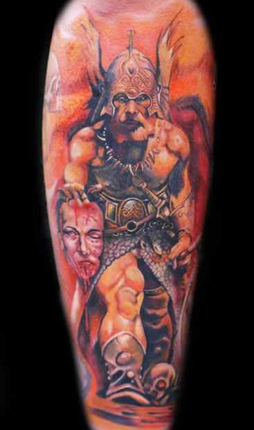 Mario Hartmann warrior portrait tattoo