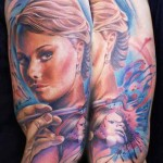 Mario Hartmann woman portrait tattoo