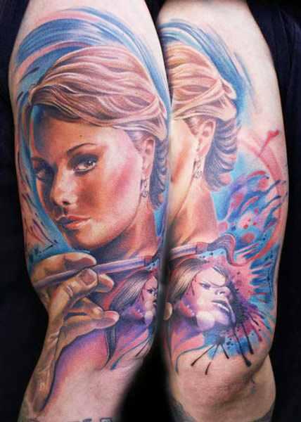 Mario Hartmann woman portrait tattoo