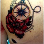 amazing compass tattoo design