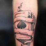 artistic spade tattoo design
