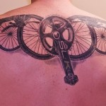 back bicycle tattoo design