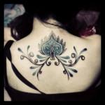 beautiful and feminine spade tattoo design