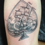 black ink spade tattoo design
