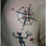 compass tattoo design for men