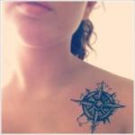 compass tattoo design for women