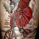 creative bicycle tattoo design