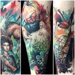 Joe Matisa detailed tattoo