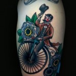 fancy bicycle tattoo design