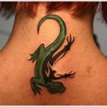 green lizard tattoo