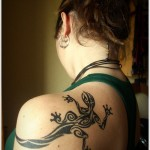 huge lizard tattoo design