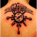meaningful compass tattoo design