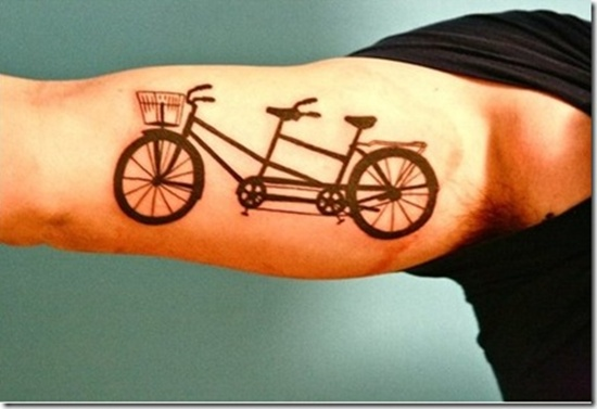 sleeve bicycle tattoo design