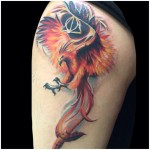 Joe Matis colorful tattoo design