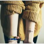 tiny compass tattoo design