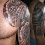 black ink yakuza tattoo