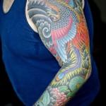 full sleeve yakuza tattoo
